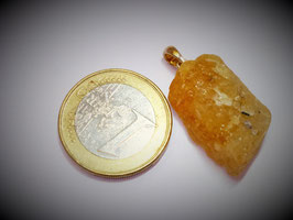 Goldberyll (Anhänger Silberöse)