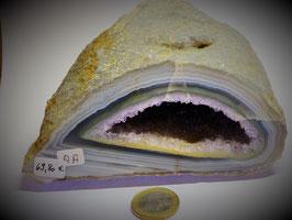 Achatgeode mit Amethyst AA-Qualität (1077g)
