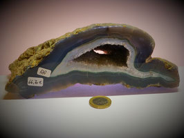 Achatgeode mit Amethyst AA-Qualität (1029g)