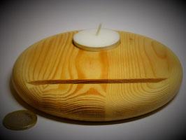 Holzständer (Fichte) mit Teelicht Durchm. ca. 13cm