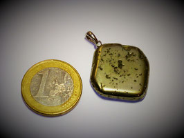 Pyrit (Würfel) Anhänger Silberöse