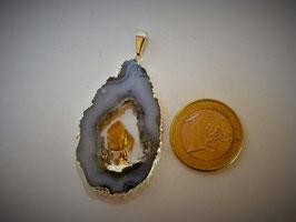 Geodensch. galvan. mit Citrin (Anh. Silberöse)