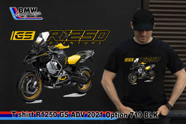 T-SHIRT R1250 GS ADV 2021 OPTION 719 BLK
