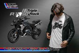 T-SHIRT R1250 GS 2021 TRIPLE BLACK WHT