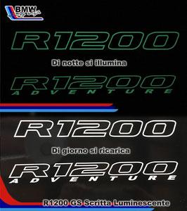 Scritta R1200 Luminescente