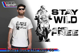 T-SHIRT STAY WILD  WHT
