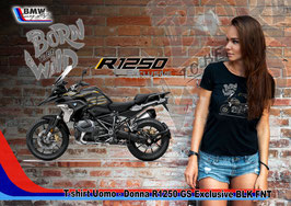 T-SHIRT NEW R 1250 GS EXCLUSIVE BLK FNT STYLE
