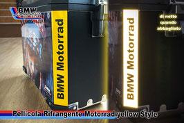 Pellicole Angolari Rifrangenti Motorrad Yellow Style