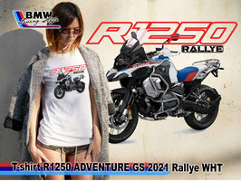 T-SHIRT R1250 GS ADV 2021 Rallye  WHT