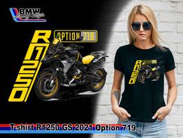 T-SHIRT R1250 GS 2021 OPTION 719 BLK
