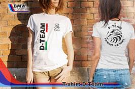 T-SHIRT D-TEAM Style con nome (taglie Donna e Uomo)