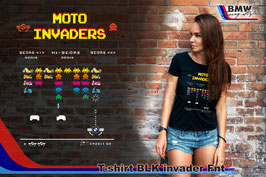 T-SHIRT INVADER GS BLK  FNT STYLE
