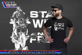 T-SHIRT Stay WILD GS BLK