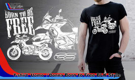 T-SHIRT Born Free GS BLK Nero