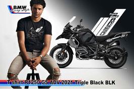 T-SHIRT R1250 GS ADV 2021 Triple Black BLK