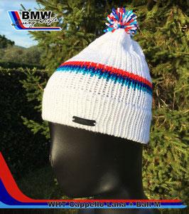 Cappellino Lana Bianco M style