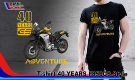 T-SHIRT 40 YEARS F850 GS STYLE