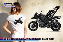 T-SHIRT R1250 GS ADV 2021 Triple Black WHT