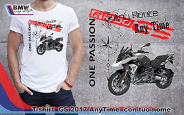 T-SHIRT GS ANY TIME  con nome (taglie Donna e Uomo)