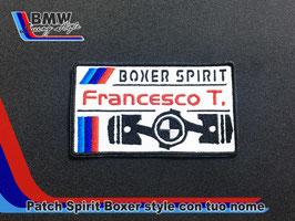 Toppa Patch Boxer style con vs nome