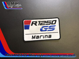 Toppa Patch R1250 GS White Style personalizzabile