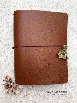 """braunes Traveler's Notebook """"Blümchen"""""""