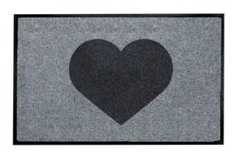 Heart black - waschbar -