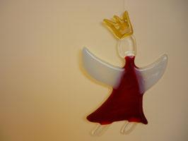 Engel mit Krone, rot, z. Hängen