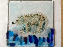Glasschale mit Eisbär- für die Eisbären- Klasse