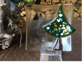 Glasschälchen mit Tannenbaum