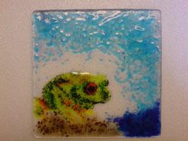 Glasschale mit Frosch- Geschenk der Frosch- Klasse zur Erinnerung für Ihre Lehrerin