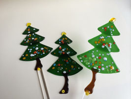Tannenbaum/ Weihnachtsbaum aus Glas zum Stecken