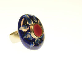Ring blau/beere - anello mirtillo