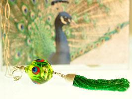 Lange Kette Pfau - collana lunga pavone