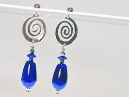 Ohrringe blau - orecchini blu