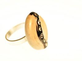 Ring grau/schwarz - anello grigio/nero