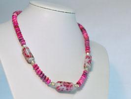 Collier pink - giracollo rosa