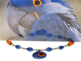 Collier blauer Papagei - giracollo pappagallo blu