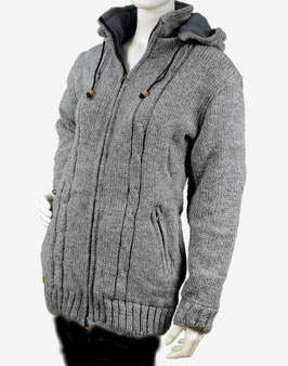 Puur Nepal Coat Middle Grey