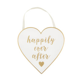 "Holzschild ""Happily ever after"""