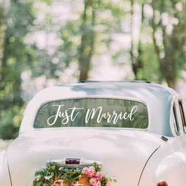 "Autosticker ""Just married"""