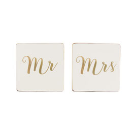 "Untersetzer ""Mr. & Mrs."" - 2er Set"