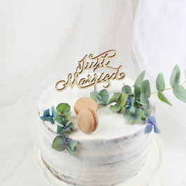 "Cake-Topper ""Just Married"" Holz"