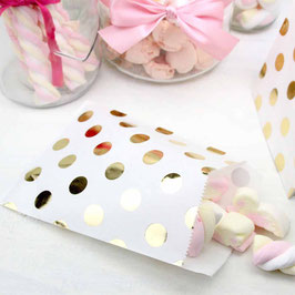 Candy Bar Tüte Gold Polka Dots