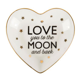 "Ringschale Herz ""Love you to the moon and back"""