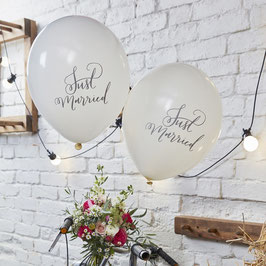 "Ballons ""Just married"" 10 Stk."