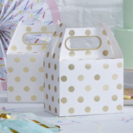 Party Box Gold Polka Dots