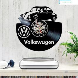 Schallplatten Vinyl Wanduhr Volkswagen