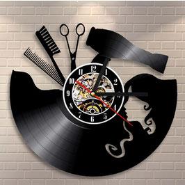 Schallplatten Vinyl Wanduhr Frisseur