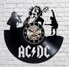 Schallplatten Vinyl Wanduhr AC DC